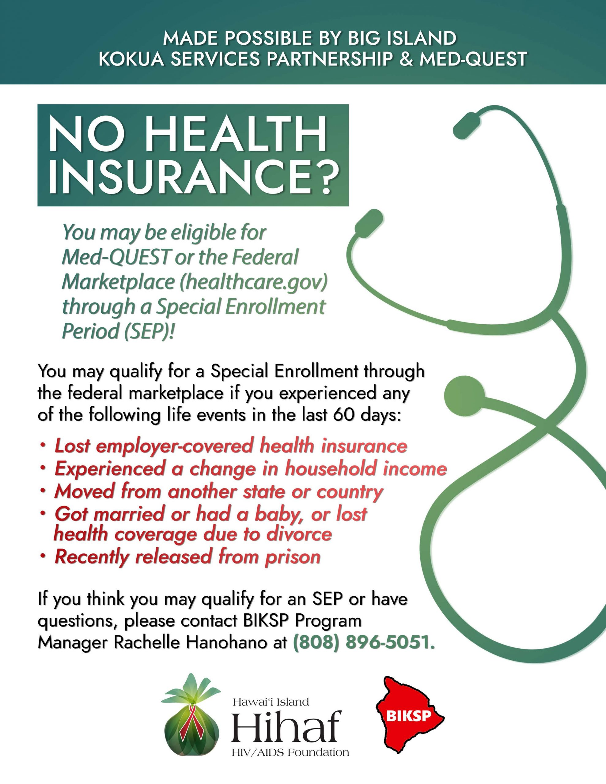 In need of Health Insurance?