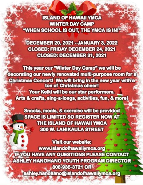 YMCA Day Camp Winter 2021